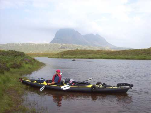 Feathercraft double at Stac Pollaidh