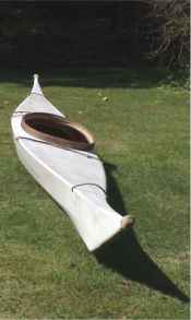 White SOF kayak