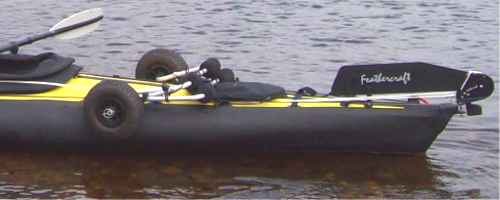 Trolley for heavy kayak