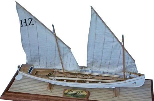 Robin Burnham's model of 30 foot Royal Navy gig