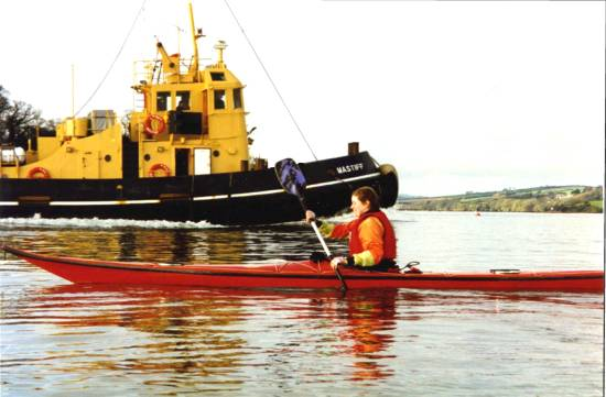 Sea kayaker in Plymouth Sound