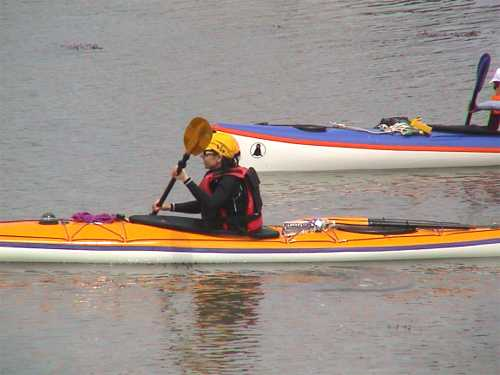 Kayakers on Mor Bihan 1